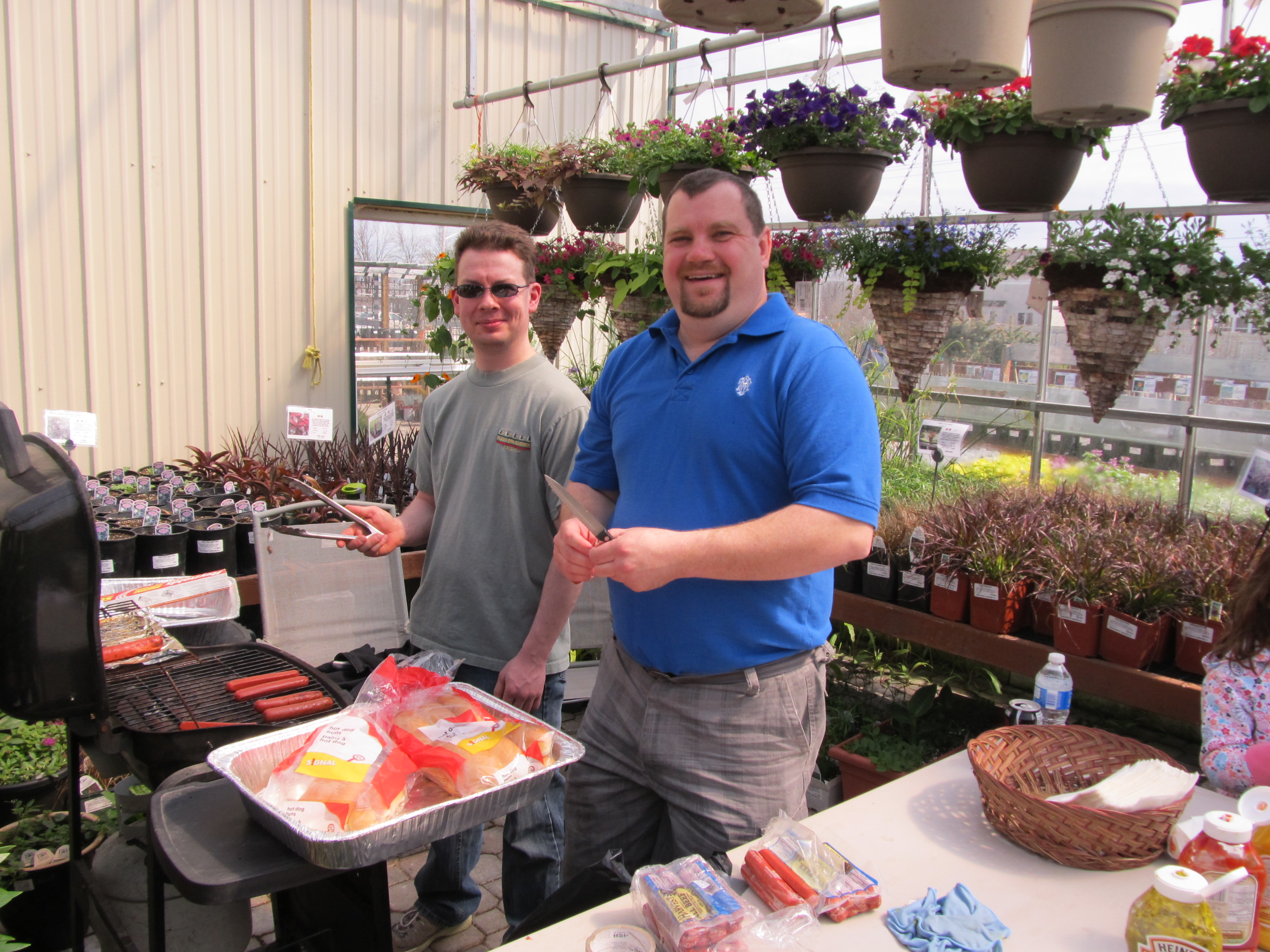 kick off to spring party, sales., deals, free draws, free hotdogs, free cake, jensen nursery and garden center, spring deals