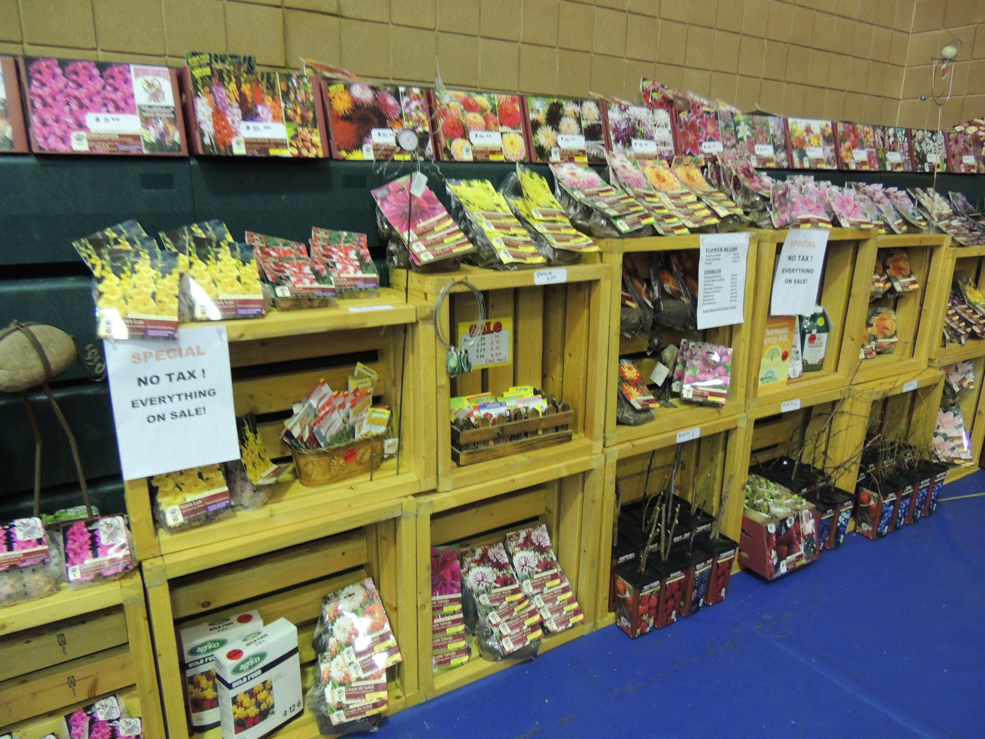 gardening saturday, winnipeg gardening show, jensen nursery, bulbs for sale