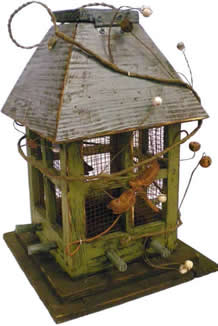 bird feeders, gift shop winnipeg, winnipeg bird feeder, rustic bird feeder, jensen nursery